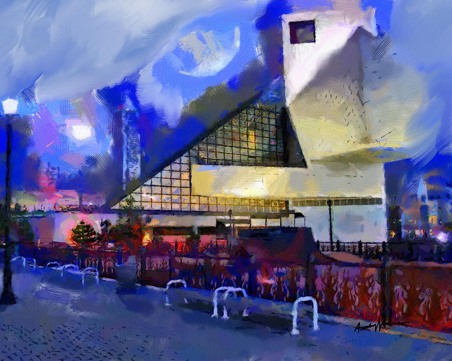 City Painting - Cleveland Rocks by Anthony Caruso