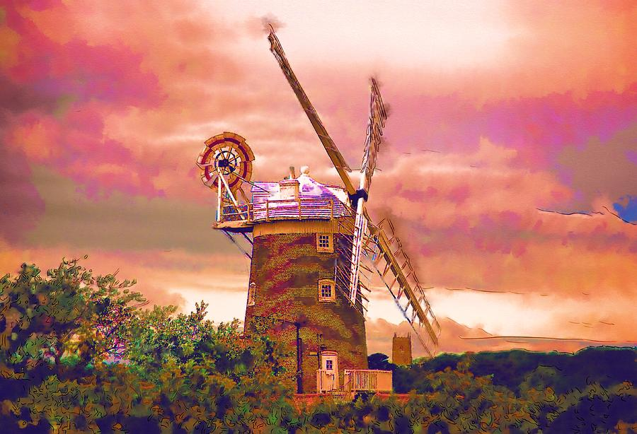 Cley Windmill Photograph - Cley Windmill 2 by Chris Thaxter