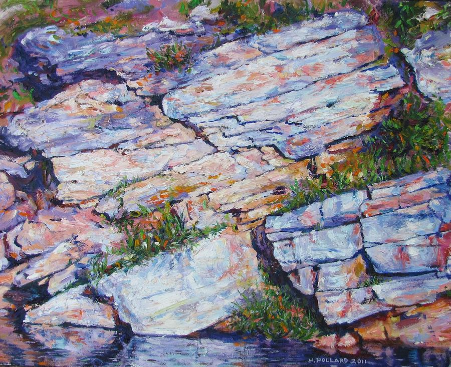 Landscape Painting - Cliff At Montlake by Herschel Pollard