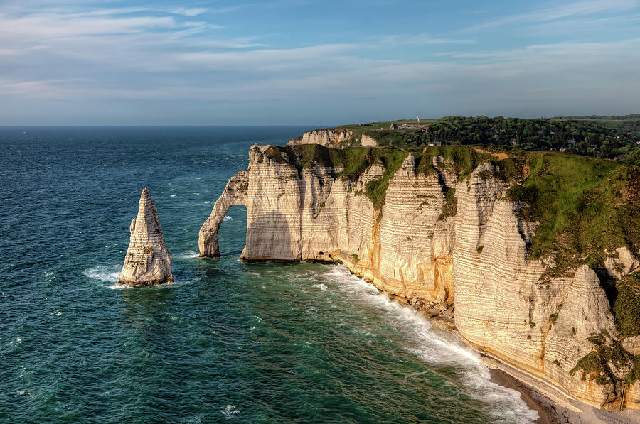 Horizontal Photograph - Cliff needle In Etretat, France by Rogdy Espinoza Photography