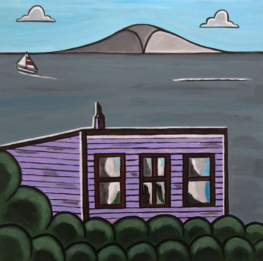 Beach Scenes Painting - Cliff Top by Sandra Marie Adams