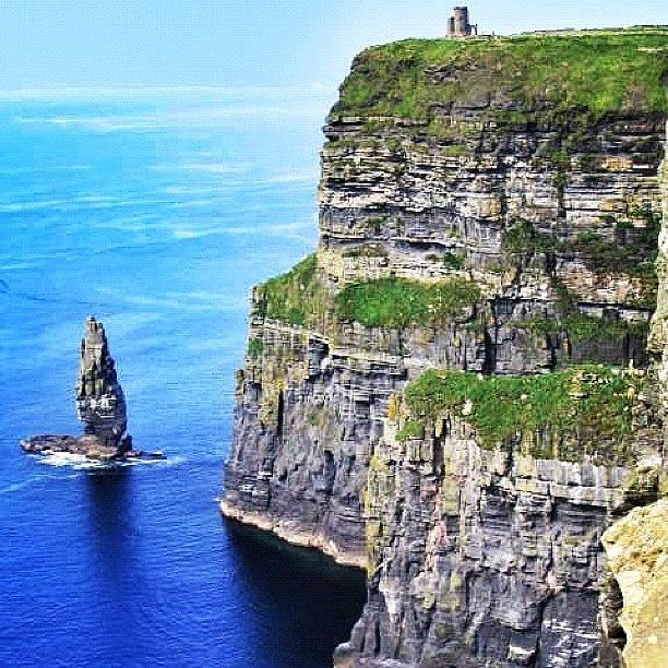 Outdoor Photograph - Cliffs Of Moher - Ireland by Luisa Azzolini