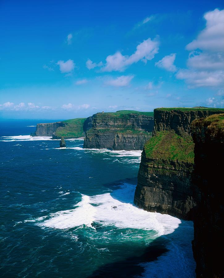 Atlantic Photograph - Cliffs Of Moher, Co Clare, Ireland by The Irish Image Collection