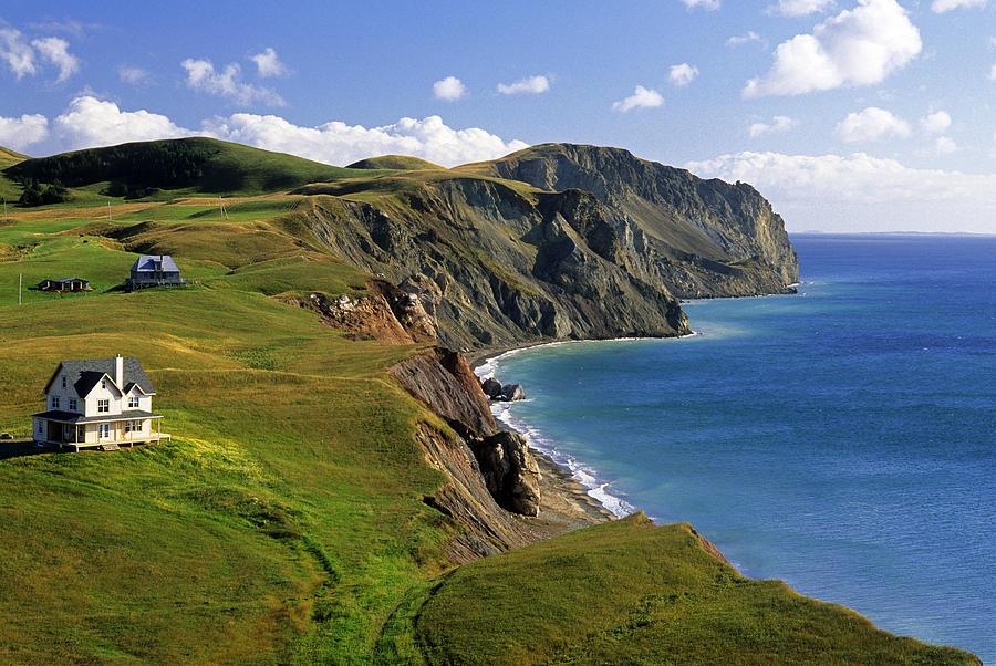 Cliffside Homes, Ile Du Photograph by John Sylvester