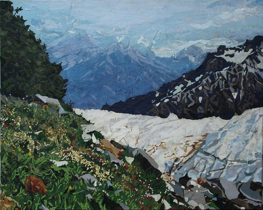 Landscape Painting - Climbing Mount Rainier by Leah  Tomaino