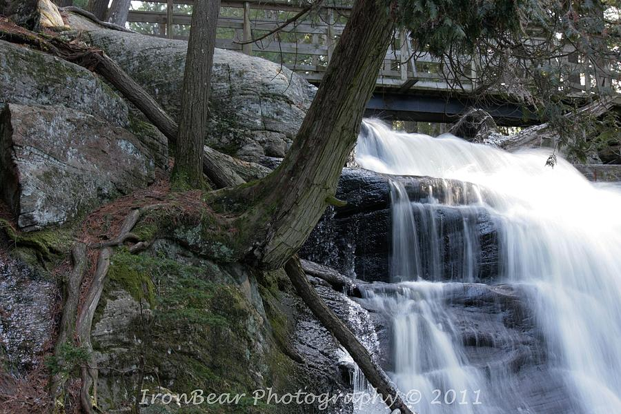 Waterfall Photograph - Clinging Over Soft Cacade by Ted Albert
