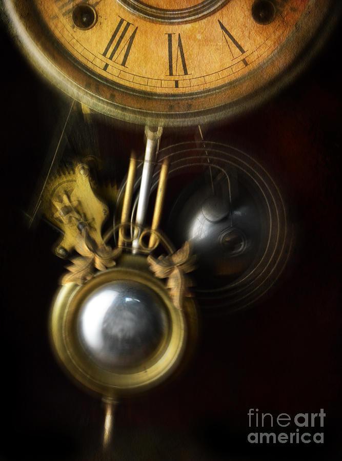 Clock Pendulum Swinging Photograph By Jill Battaglia