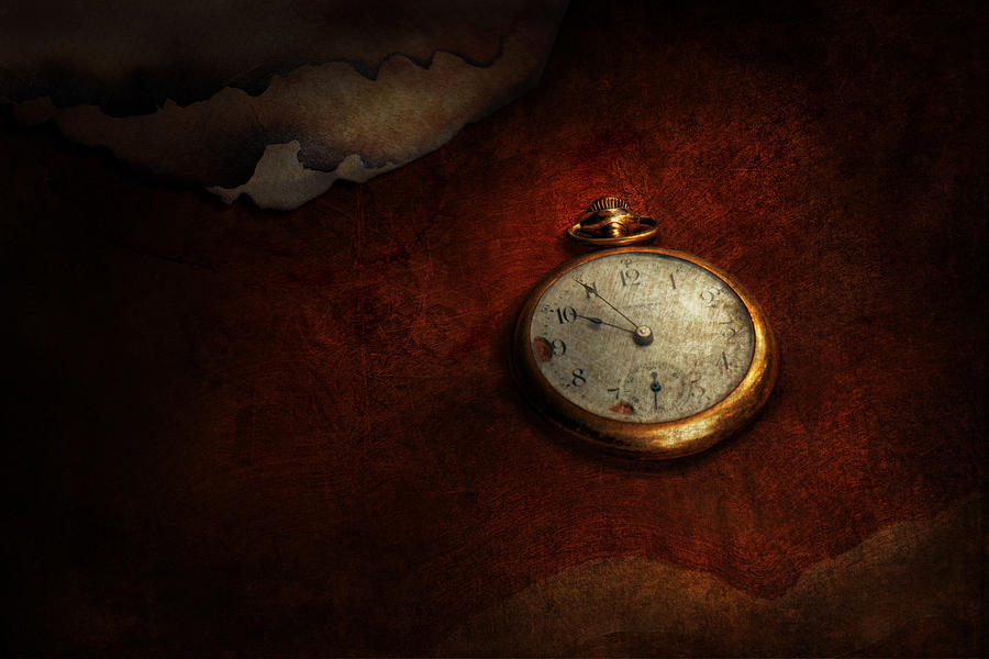 Hdr Photograph - Clock - Time Waits For Nothing  by Mike Savad