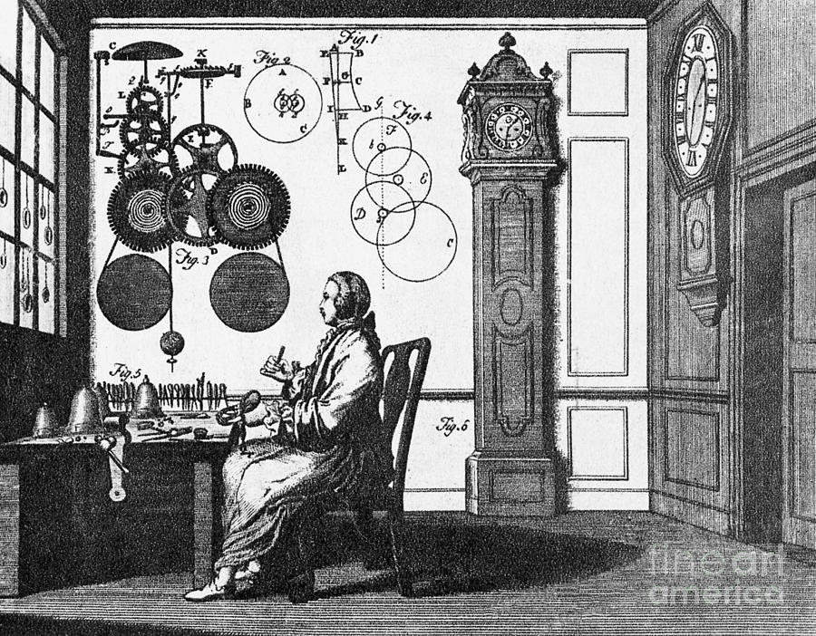 Engraving Photograph - Clockmaker by Science Source
