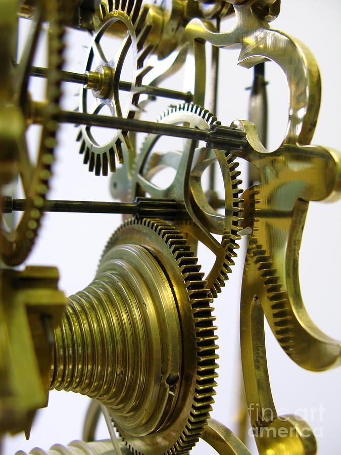 Antique Photograph - Clockwork by John Chatterley