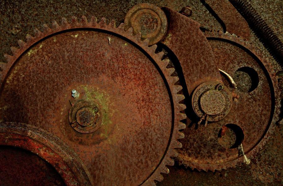 Rust Photograph - Clockwork Rust by Odd Jeppesen