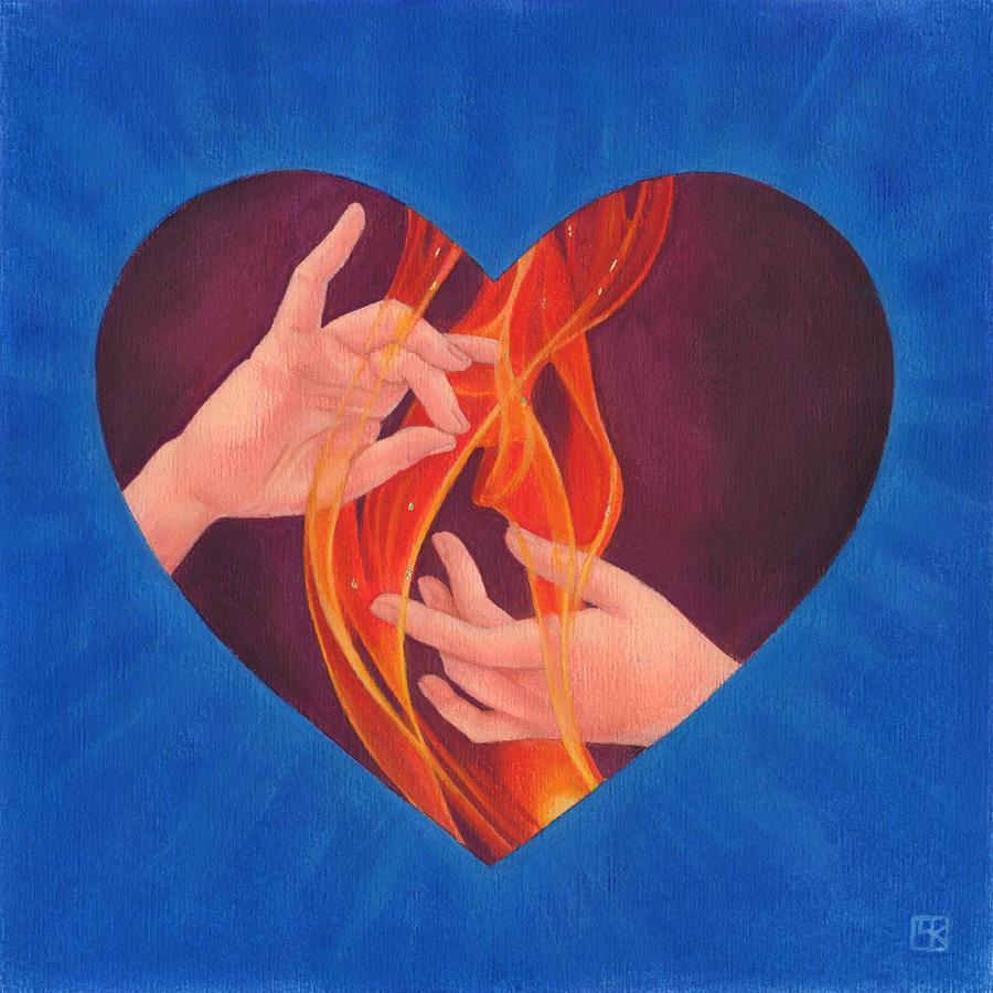 Hands Painting - Cloe by Lisa Kretchman