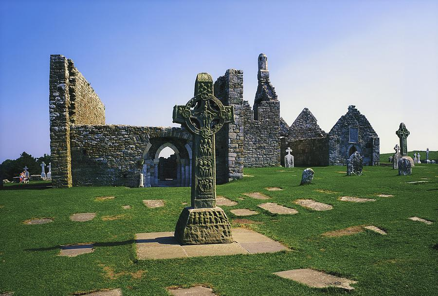 Ancient Civilization Photograph - Clonmacnoise, Co Offaly, Ireland, West by The Irish Image Collection