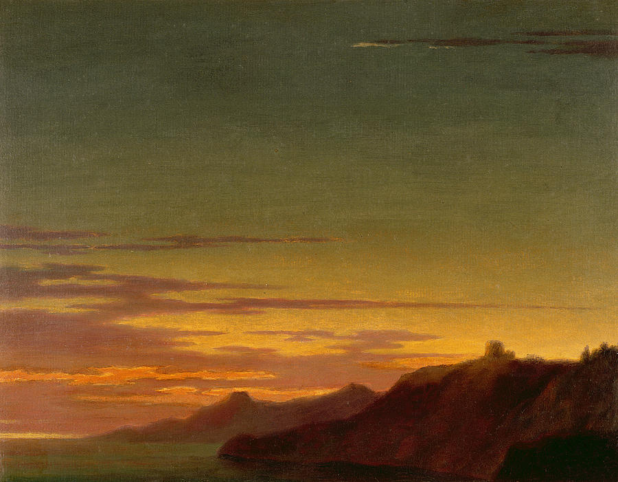 Close Painting - Close Of The Day - Sunset On The Coast by Alexander Cozens