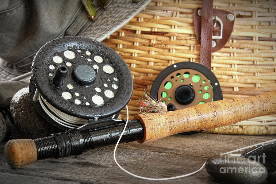 Activity Photograph - Close-up Fly Fishing Rod  by Sandra Cunningham