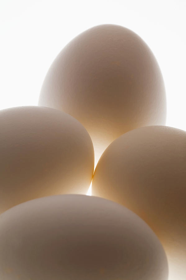 Brown Photograph - Close Up Of A Group Of Eggs Calgary by Michael Interisano
