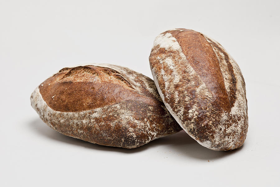 Horizontal Photograph - Close Up Of Loaves Of Bread by Henn Photography