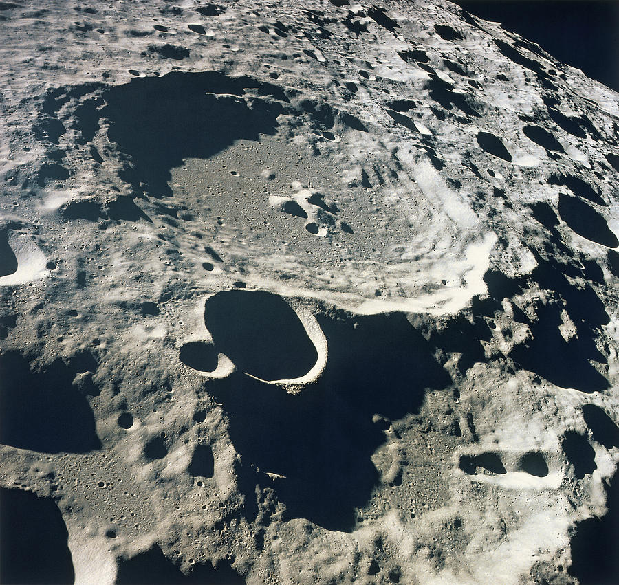 Close up of the surface of the moon photograph by stockbyte - Moon close up ...