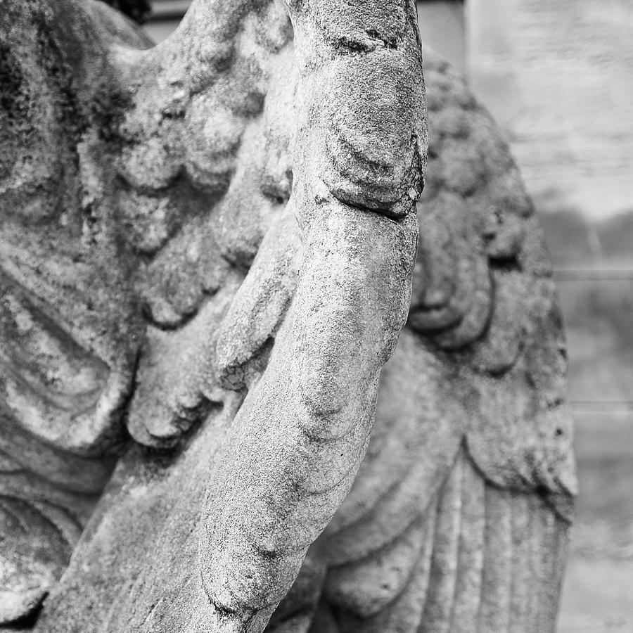 Square Photograph - Close Up Of Wing Of Statue, Germany by This Is About My Way To See Light & Form In 2 Dimensions