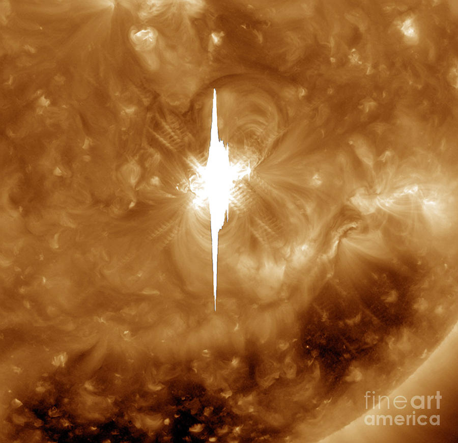 Explosion Photograph - Close-up View Of A Massive X2.2 Solar by Stocktrek Images