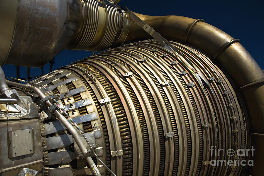 Rockets Photograph - Close-up View Of A Rocket Engine by Roth Ritter