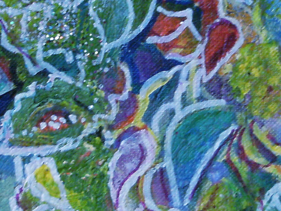 Floral Painting - Close View Of One Of My Floral Paintings by Anne-Elizabeth Whiteway