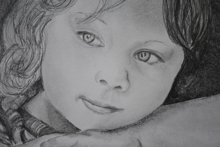 Close Drawing - Closeup Of Reflection by Emily Maynard