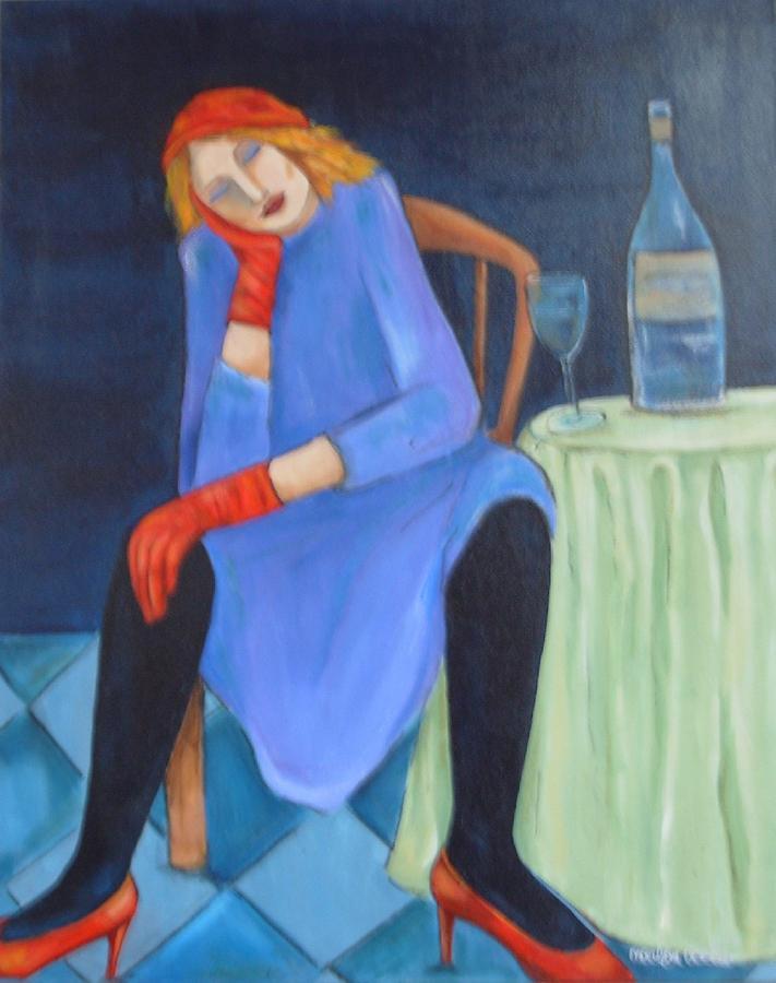 Acrylic Painting - Closing Time by MaryAnn Ceballos