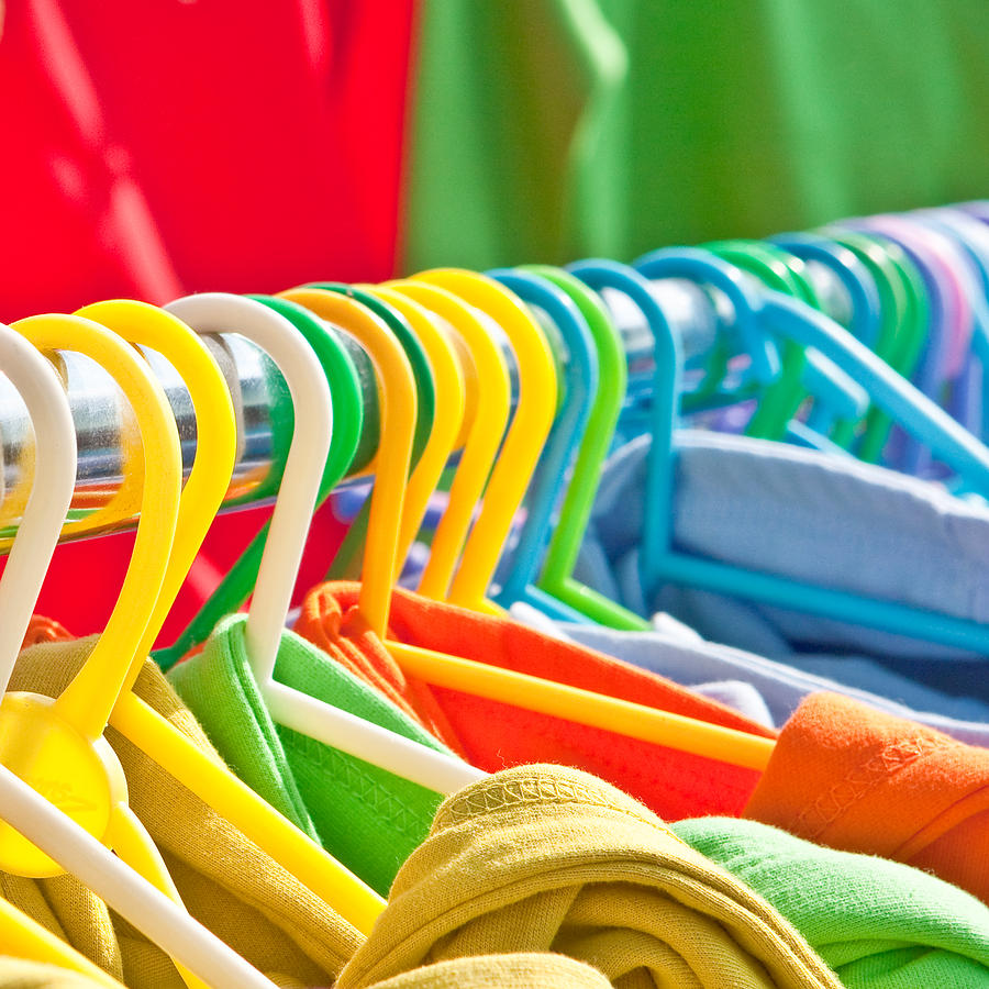 Apparel Photograph - Clothes Hanging by Tom Gowanlock