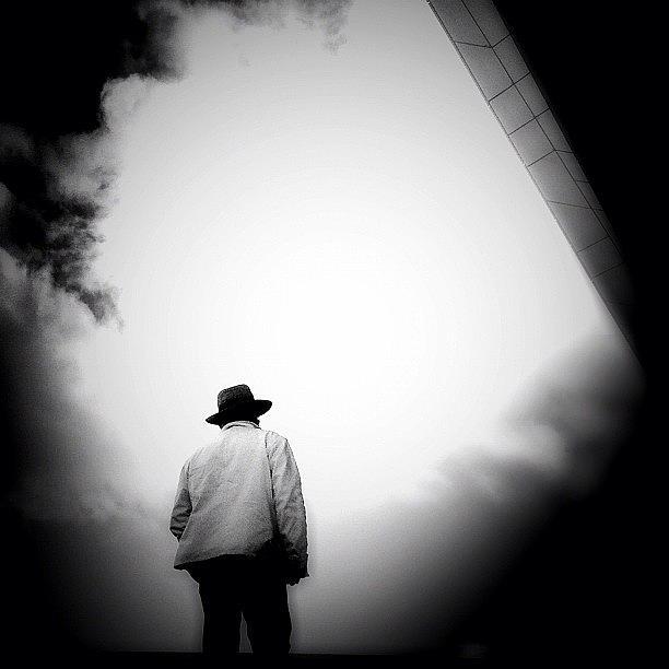Blackandwhite Photograph - Cloud Cowboy - Concrete Jungle by Robbert Ter Weijden