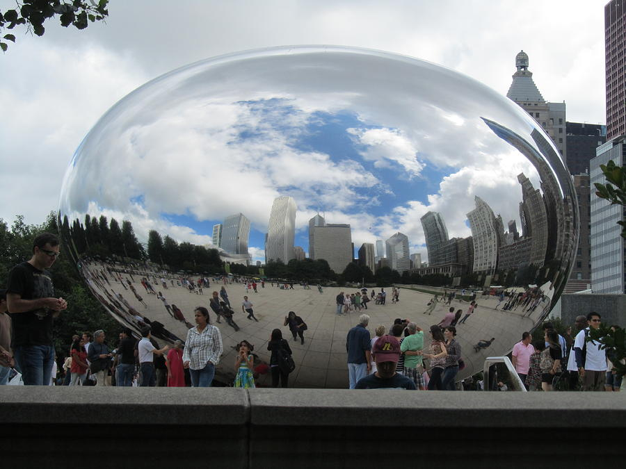 Chicago's Cloud Gate Photograph - Cloud-gate-one by Todd Sherlock