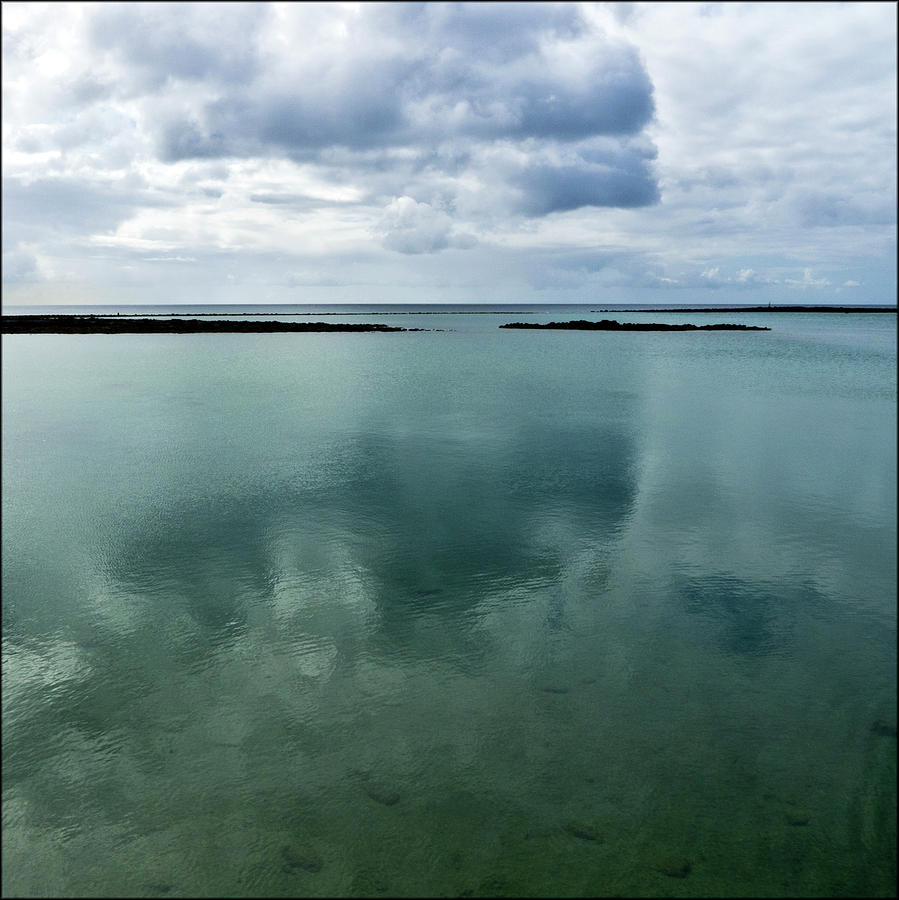 Square Photograph - Cloud Reflections by Kimberly Jansen Photography