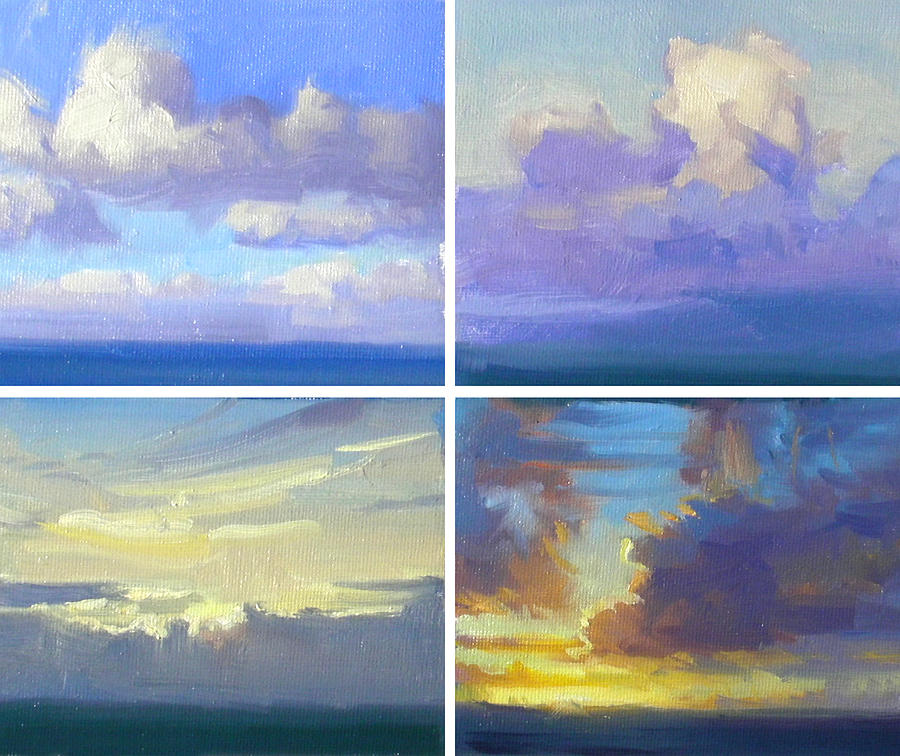 Clouds Painting - Cloud Studies by Richard Robinson