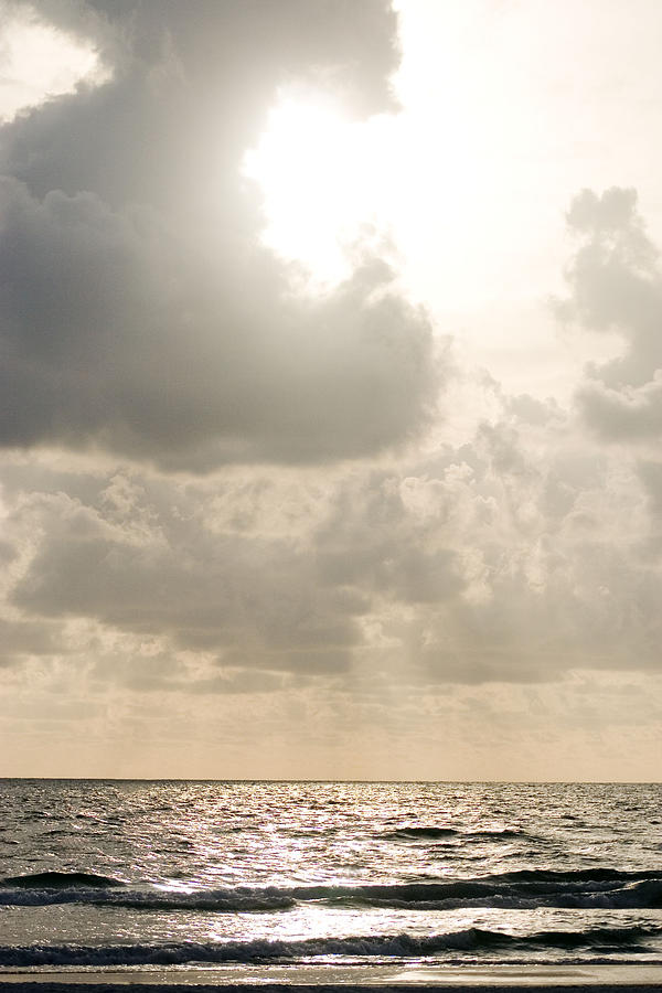 Ocean Photograph - Clouded Sky by Lisha Segur