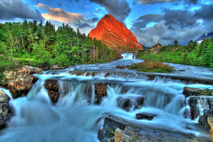 Waterfall Photograph - Clouds And Waterfalls by Scott Mahon