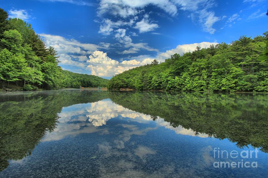 Pipestem West Virginia Photograph - Clouds In The Lake by Adam Jewell