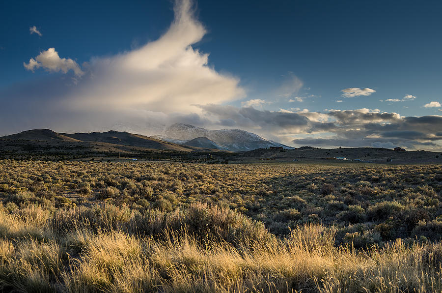 Great Basin Photograph - Clouds Over East Humboldts by Greg Nyquist