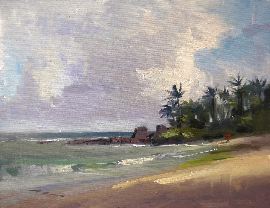 Haleiwa Painting - Clouds Over Laniekea by Richard Robinson