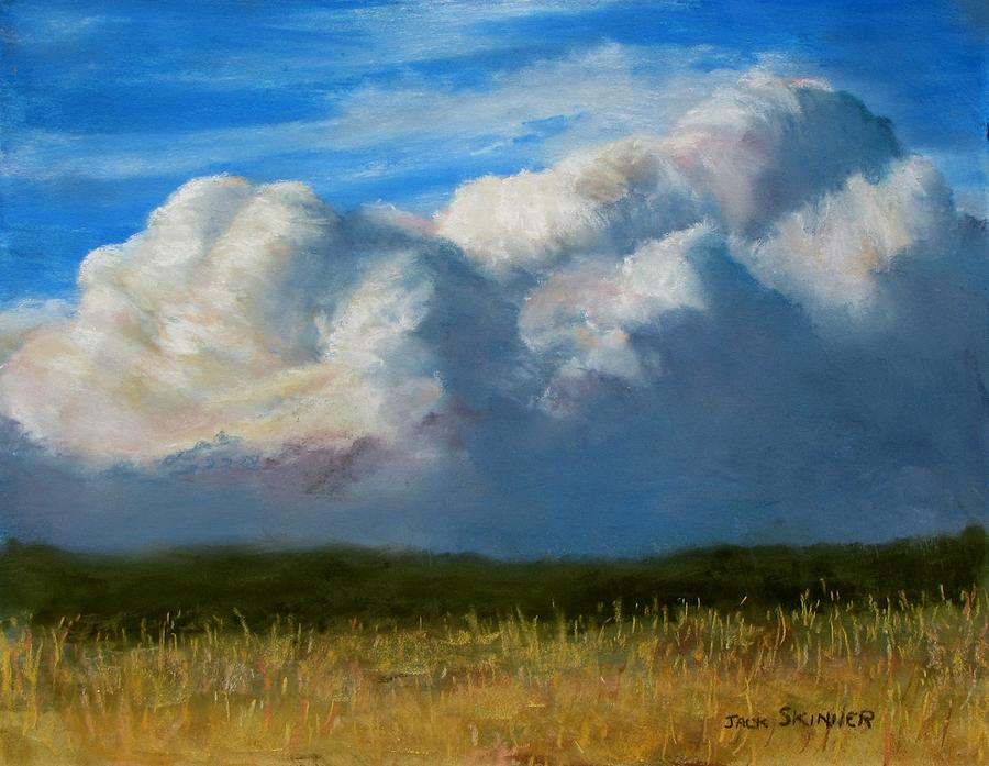 Clouds  Painting - Clouds Over The Meadow by Jack Skinner