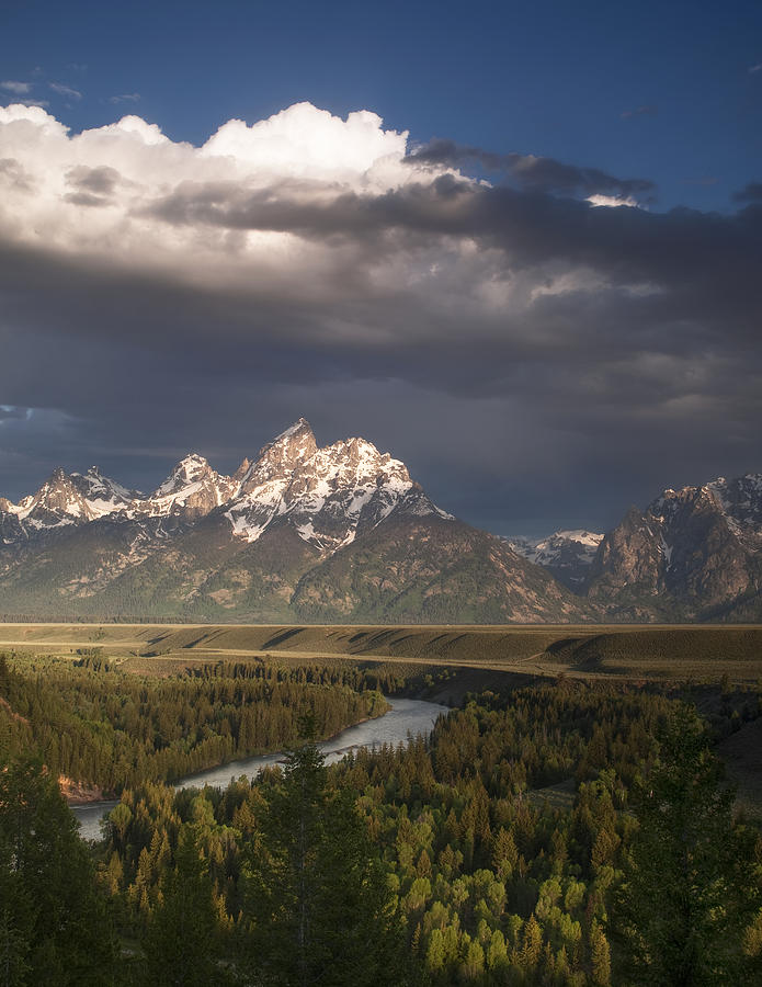 Grand Teton Photograph - Clouds Over The Tetons by Andrew Soundarajan