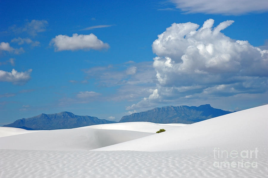 White Sands Photograph - Clouds Over The White Sands by Vivian Christopher