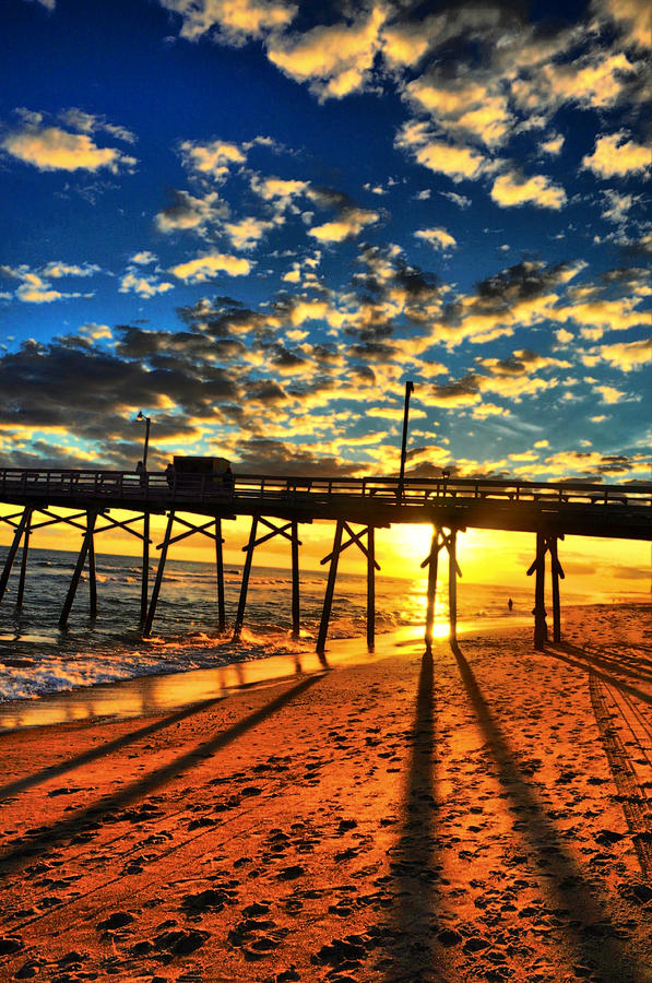 Pier Photograph - Clouds To The Pier by Emily Stauring