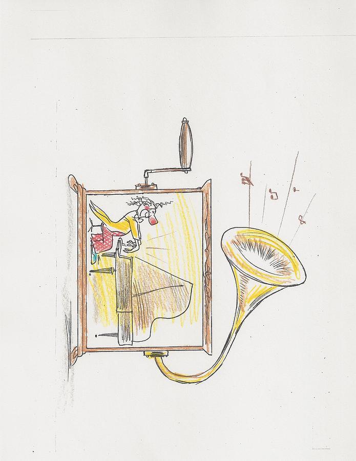 Clown Drawing - Clown 71 by Alex Aleshichev