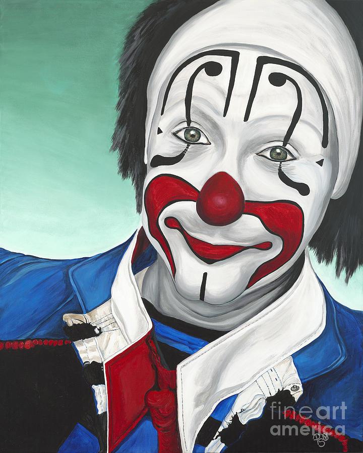 Clown Painting - Clown - Billy Ballantine  by Patty Vicknair