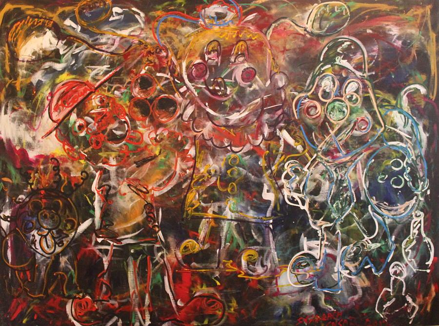 Clown Painting - Clowning Around by Shadrach Ensor