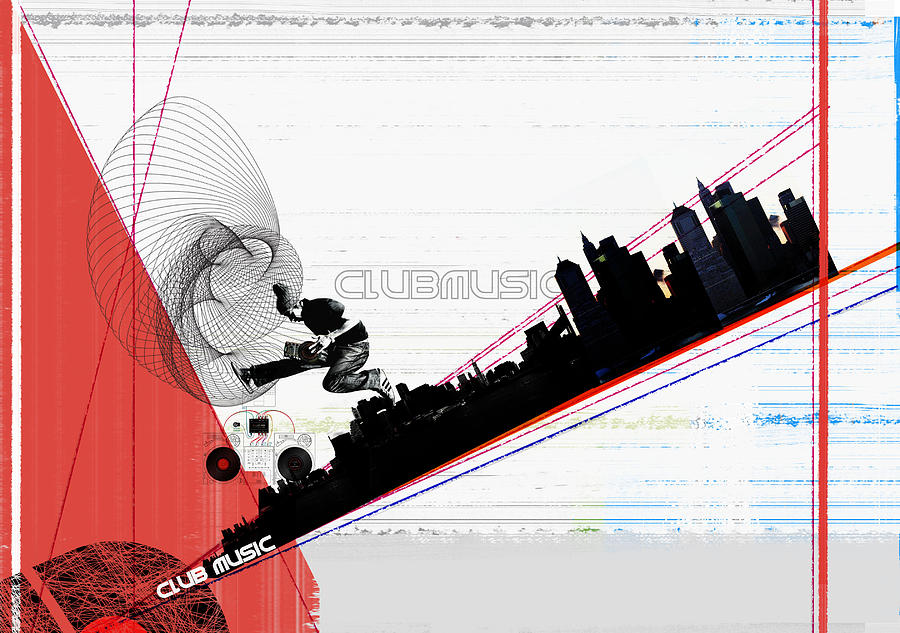 Music Digital Art - Clubmusic by Naxart Studio
