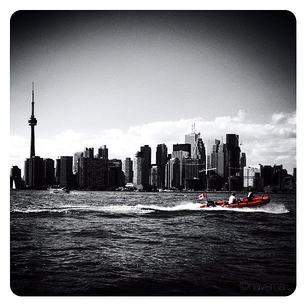 Blackandwhite Photograph - Cn Tower Series: A Touch Of Color by Natasha Marco