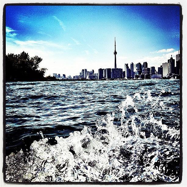 Canada Photograph - Cn Tower Series: Lake Splash by Natasha Marco