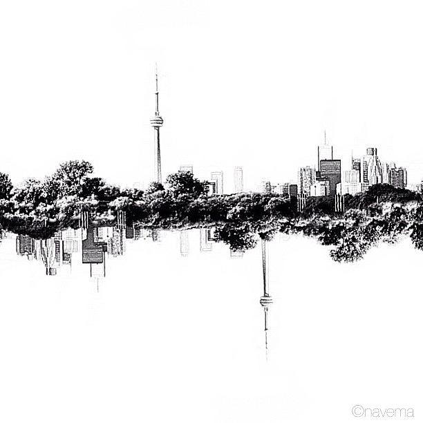 Blackandwhite Photograph - Cn Tower Series: Reflection by Natasha Marco