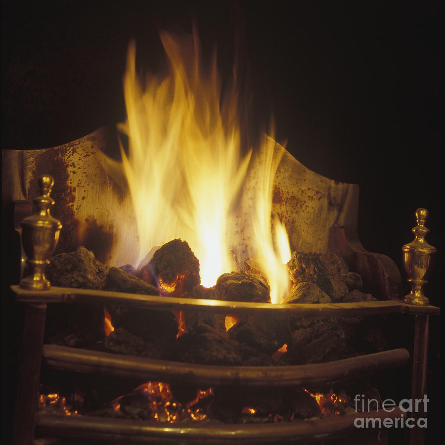 coal fire in an english fireplace photograph by will u0026 deni mcintyre